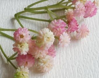 Light pink Tiny Baby's Breath Bush Plastic (gypsophila) Flowers/wedding/ Flower crown /Flower Bouquet/ Brooch/Hat accessories(t.a)