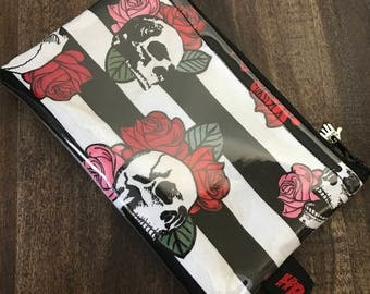 Handmade Skull & Roses Change Purse