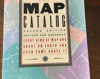 Book, Vintage Book, Maps, Map Book, Map Catalog Second Edition