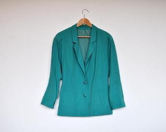 Vintage Bright Turquoise Blazer Jacket