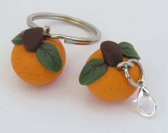 Orange charm, Orange fruit, Fruit charm,  pendant supply, miniature food, DIY Crafts, orange jewelry, Charms, Miniature fruit, 1 piece