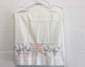 Vintage Hand Embroidered Butterfly Pillow Case