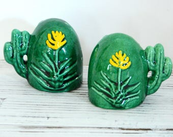 Cactus Salt and Pepper Shakers- New Mexico Souvenir