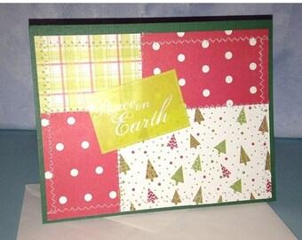 Peace on Earth Card Christmas Card Handmade
