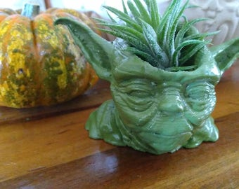 Star Wars Yoda  Planter 3D Printed Succulent planter Large or Small