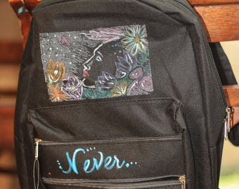 Fun Kid's and Teen's Flower Girl backpack, perfect for going back to school