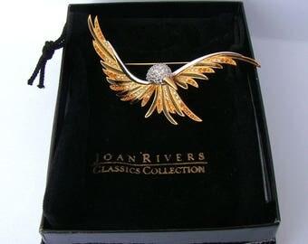 Gorgeous Vintage Joan Rivers Bird In Flight Brooch Pin