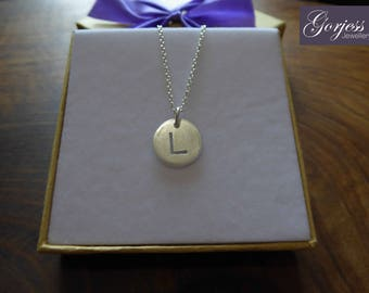 Handmade Letter Charm - Initial Pendant - L Necklace - Personalised Jewellery