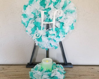 Teal Table Decor, Teal Wedding Decor, Teal Decor, Wedding Table Centerpiece, Head Table Decor, Elegant Wedding Decor, Wedding Candle Set