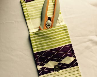 Supply pouch,  carry all pouch, Organizer bag, Small bag, Snap closure