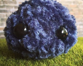 Fuzzy blue monster