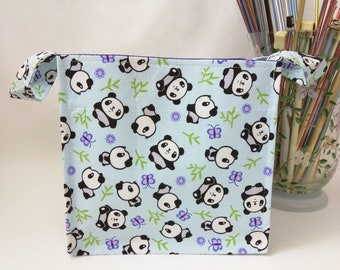 Medium Nest Basket with Organizer Pockets - Panda Toss