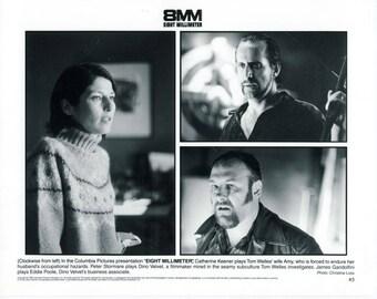 Vintage Catherine Keener, Peter Stor, James Gandolfini In 8 Millimeter 1999 Movie Promotional Photograph Black & White