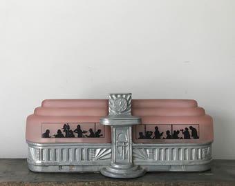 Art Deco Diner Lamp by Sarsaparilla