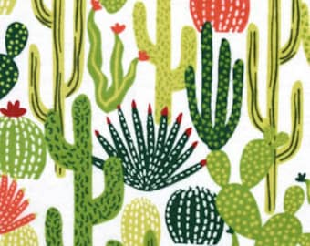 Snuggle Flannel Fabric - Cactus Toss - 1 2/3 Yards (1 Yard  24 inches)
