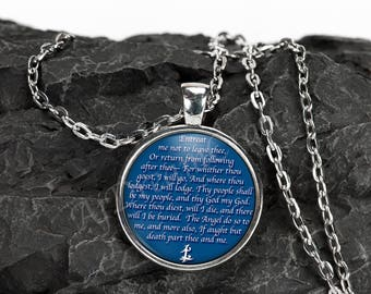 "Shadowhunters Parabatai Oath: 1"" Silver Necklace and Key Chain"