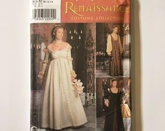 8735 Simplicity Renaissance Gown Uncut Pattern - Sizes 10, 12, 14