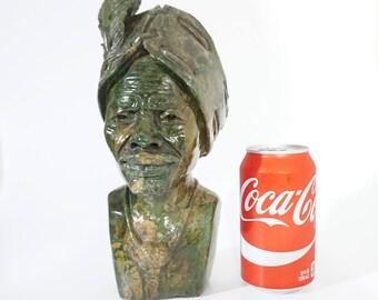 Shona Chief Verdite Shona Stone Sculpture Hand Carved in Zimbabwe Ships from USA