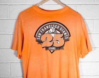 Vintage SF Giants Tshirt 25th Anniversary 1982 Adult Large