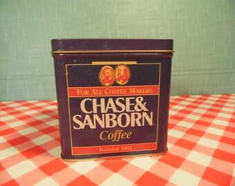 1993 Chase Sanborn Coffee Tin - Bristolware - Kitchen Decor