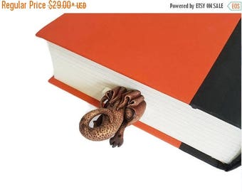CHRISTMAS IN JULY -20% // Dragon bookmark// Unusual gift for booklover and fan // Back to school gift for student, teacher //