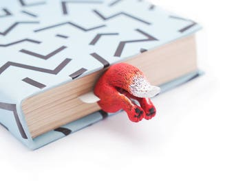 Fox bookmark. Cute red fox creative gift for animal lover, her, mom, women, teen girl, teacher, coworker, student, granny, child, sister.