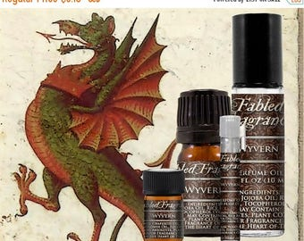 SALE WYVERN Perfume: Earthy Floral Scent, Artisan Fragrance, Dragons Blood, Freesia Flower, Vegan Solid Perfume, Ships Out in 5-7 Days