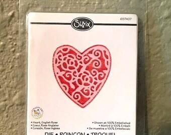 Sizzix English Rose Heart Embosslit 657407 - New