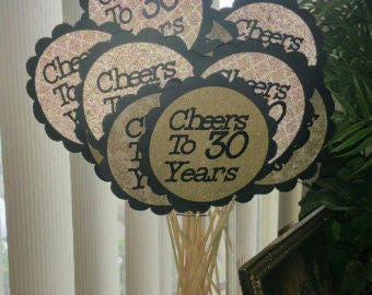 Personalized Themed Centerpiece Decorations with or without sticks