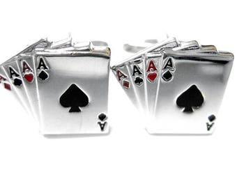 Four Aces Gambling Cufflinks