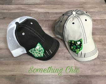 St. Patrick's Day Ohio Inspired Trucker Hat Baseball Hat Ohio State Cleveland Shamrock