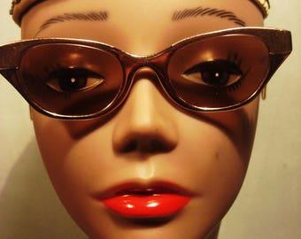 RESERVED Erica Vintage 1960s Boho Chic Copper Tone Old School RIVO Eyeglasses