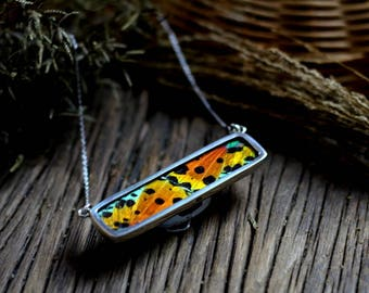 Real butterfly necklace Statement necklace for wife Bar necklace for women Taxidermy jewelry Moth Gift insect jewelry Women insect jewelry