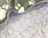4 Paw print Blankets