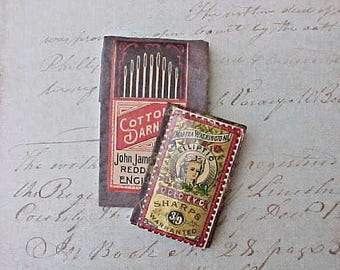 Pretty Edwardian Era Sewing Needle Books