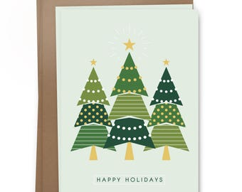Happy Holidays - Trees Card Pack
