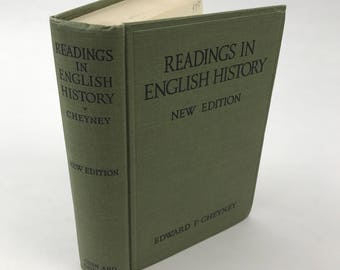 Antique History Book - Readings In English History Drawn From The Original Sources - 1935 - History Textbook