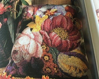 Flowers - Pillow/Cushion - Needlepoint Pattern Only