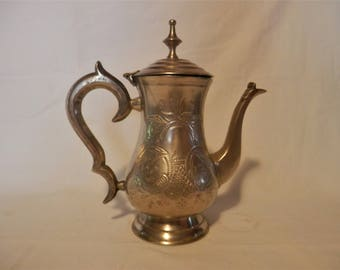 EPNS Electroplated Nickel Silver Plate Teapot Vintage