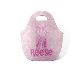 Personalized Lunch Tote - Ballet - Custom Lunch tote for Children