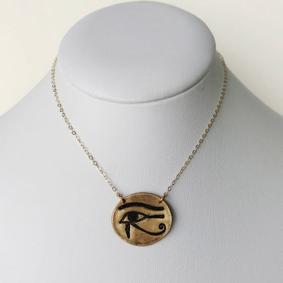 Eye of Horus Medallion Necklace
