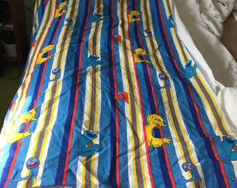 """Sesame Street fabric remnant 42"""" wide x 64"""" long"""