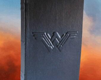 Wonder Woman - Blank Black Leather Journal or Sketchbook
