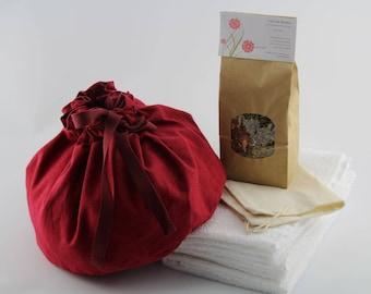 Linen Lotus Birth Kits - Lined