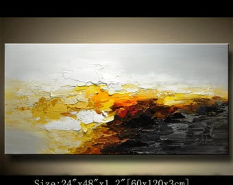 Abstract Large ORIGINAL Painting Modern Textured Painting,  Palette Knife, Home wall art Decor, acrylic art Painting on Canvas  by Chen 0725