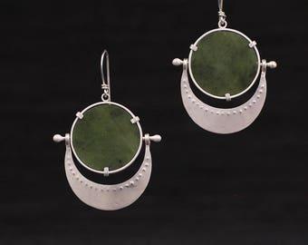 Jade Disc Earrings