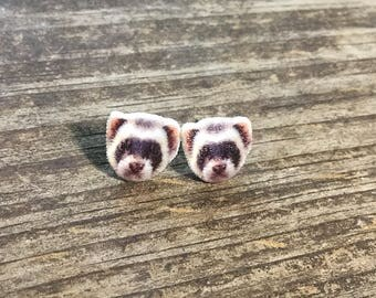 Ferret earring jewelry pet