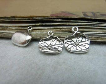 The  antique  silver  plating lotus leaves  pendant finding