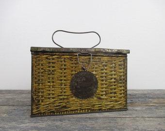 Vintage Tobacco Tin, Small Storage Box, Patterson's Seal Cut Plug Tobacco, Stash Box, Advertising Tin, Tobacco Can