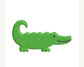 ON SALE Mini Alligator Embroidery Design - Instant Download